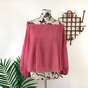 Aritzia Wilfred Talence Off The Shoulder Blouse